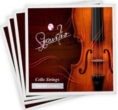 Full Set Of High Quality Cello Strings Size 4/4 & 3/4 Cello Strings, A D G & C -SILVER LABEL-