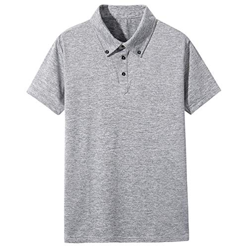 LOCALMODE Men's Casual Performance Dry-Fit Short Sleeve Polo Golf Tee Shirt Moisture Wicking and 4 Way Stretch - Casual Imported