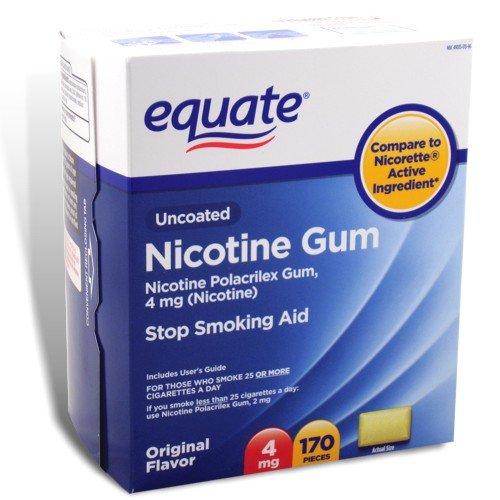 Arrêter de fumer aide Equate 4mg originale saveur de gomme