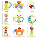 Baby Toys Rattles Teether and Shakers 9 PCS, Baby