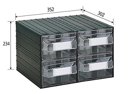 Vipa srl cassettiera componibile in plastica colore trasparente