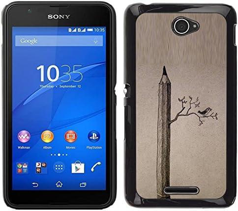 All Phone Most Case / Lindo Foto Caso Duro Carcasa Estuche de protectora / Hard Case for Sony Xperia E4 // Dibujo Aves Significado Arte Profundo: Amazon.es: Electrónica
