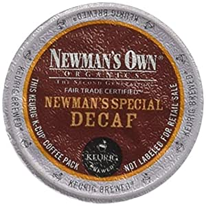Newman's Own Organics Gourmet Single Cup Coffee Newman's Special Decaf 12 K-Cups