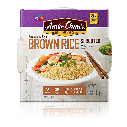 Annie Chun's Rice Express, Sprouted Brown Sticky Rice, 6.3 Ounce (Pack of 6) - Frozen Gourmet Meals