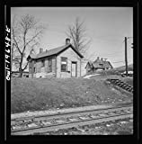 Reproduced Photo of Marceline, Missouri. The switchmen39;s shanty at The Atchison, Topeka, and Santa Fe Railroad Yard. Note The Three Service Stars in The Window 1943 Delano C Jack 15a