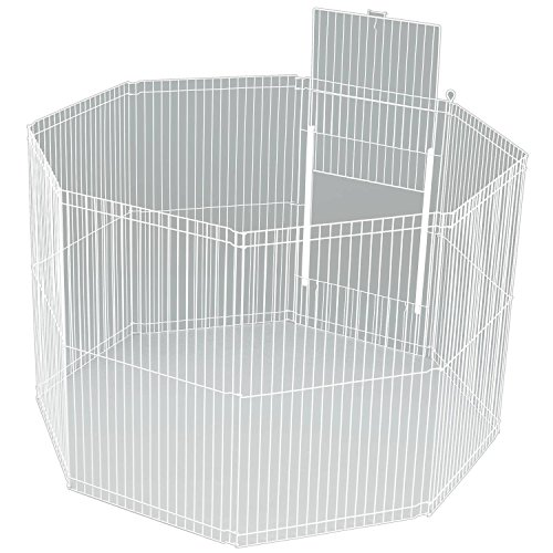 Ware Manufacturing Large Canvas 8-Panel Clean Living Small Pet Playpen Cage, White