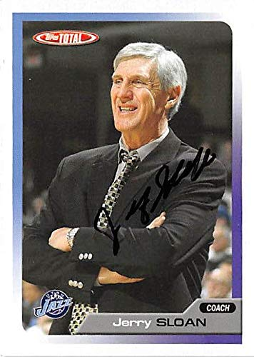 Jerry Sloan autographed Basketball Card (Utah Jazz) 2006 Topps Total #417