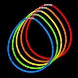 "Fun Central J6 22"" Premium Glow Stick Necklaces - Assorted Colors 50ct"