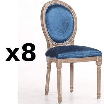 Inside - Juego de 8 sillas medallón Versalles Estilo Louis ...