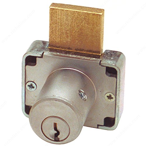 Deadbolt Drawer Lock 7/8 and 1-3/8, Cylinder Length 1 3/8 in, Key Type Keyed Alike #101, Panel Thickness Max. 1 3/8 in