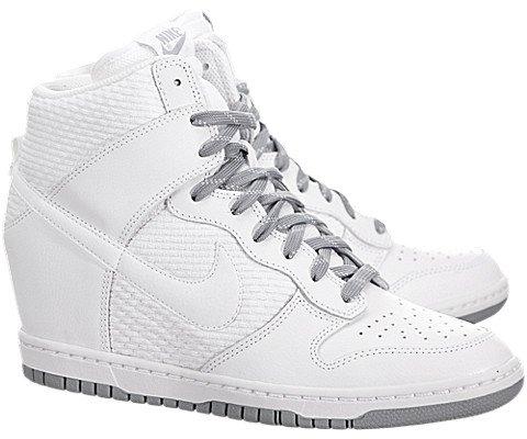 Nike Women's Dunk Sky Hi Essential White/White/Dove Grey/White Casual Shoe 8 Women US