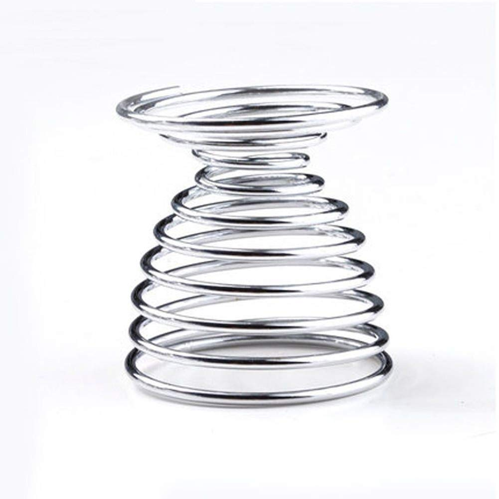 super1798 2Pcs Metal Spiral Spring Wire Tray Egg Cup Storage Holder Stand Kitchen Tool Silver by super1798 (Image #6)