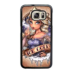 Grouden R Create and Design Phone Case,The Snow Queen Cell Phone Case for Samsung Galaxy S6 Edge Black + 1*Touch Stylus Pen (Free) GHL-2863293