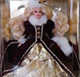 Mattel Year 1996 Barbie Hallmark Special Edition 12 Inch Doll - HAPPY HOLIDAYS 1996 Barbie in Faux Fur Trim Gown with