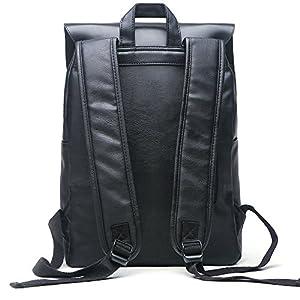 Good&god Unisex PU Laptop Backpack Knapsack Rucksack Weekender Daypack Bag