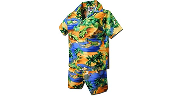 3d3e5089 Amazon.com: Toddler Hawaiian Cabana Set Gator: Clothing