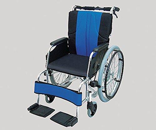 8-7141-02車椅子(自走式/アルミ製/青黒) B07BDQGPV7