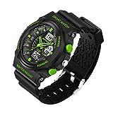 M400 Polar Band Best Deals - Delight eShop Waterproof Digital LCD Stopwatch Date Military Rubber Mens Sport wrist Watch (Green)