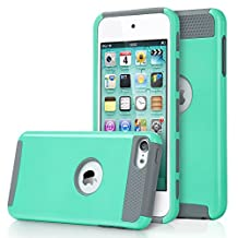 iPod Touch 6 Case, MCUK Dual Layer Hybrid Cover Silicone Rubber Skin Hard Combo Bumper High Quality Scratch-Resistant Case Fit For Apple iPod Touch 5 6th Generation (Blue/Grey)