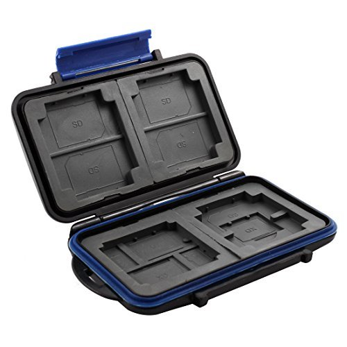 DealMux ABS Anti-Scratch 15 Slots Memory Card Storage Case Holder for SD XD CF TF MSPD - Card Mspd