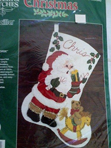 Bucilla Santa & Rocking Horse Felt / Jeweled 15