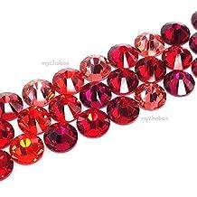 144 pcs (1 gross) Swarovski 2058 Xilion / 2088 Xirius crystal flat backs No-Hotfix rhinestones nail art RED Colors Mix ss20 (4.7mm) **FREE Shipping from Mychobos (Crystal-Wholesale)**