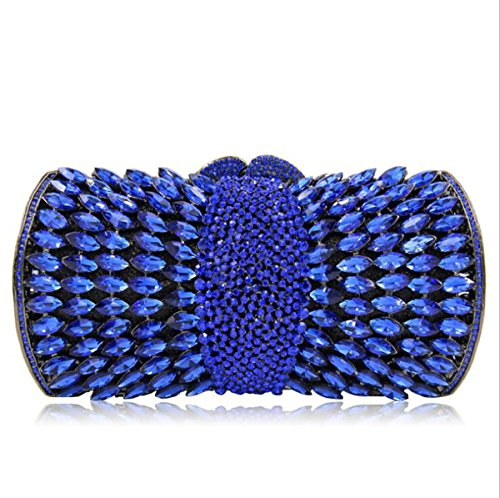 les à Femmes clubs sac de Bag Blue fête Clutch sac Diamond mariage pour main Banquet Crystal Luxury Glitter la de main Evening à prpwqnZa