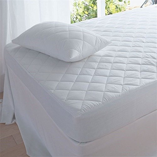 Waterproof Mattress Protector King Size. Super-soft Quilted Cotton Bed Cover best for silent, comfortable sleep. Breathable for cool, restful nights. Protects against allergens, perspiration, spills (Plush Super Pillow Top)