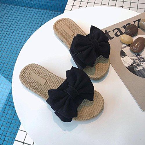 Bain d'intérieur Femmes Chaussures de Ete Maison Femmes de Pantoufles Anti Sandales de Femme Douche Ansenesna pour Dérapant Les Noir Sandales Pantoufles Hq1Aq7Fn