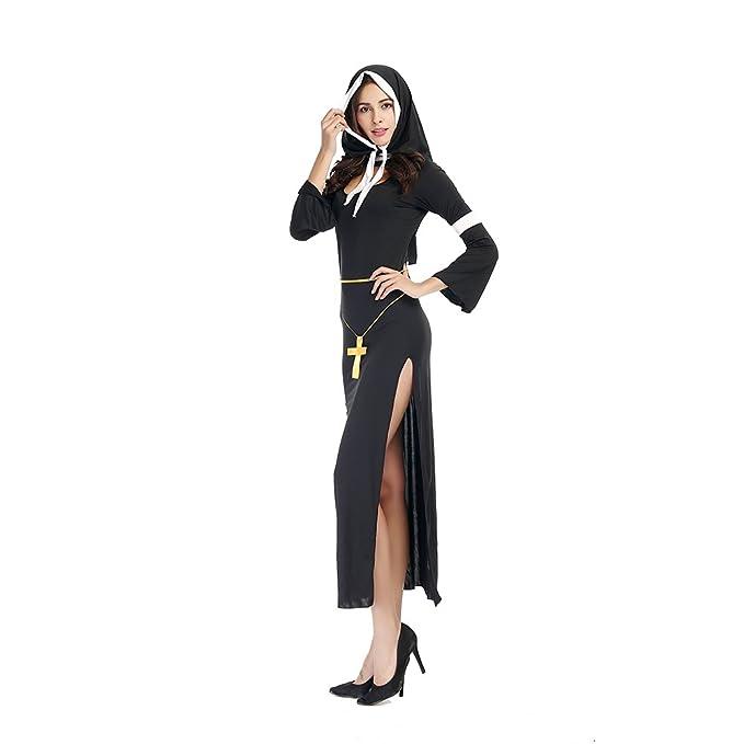 xiemushop - Disfraz de Monja para Mujer: Amazon.es: Juguetes y juegos