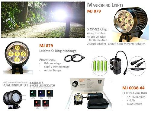 Magicshine MJ 872 - 1600 Lumen, incl. Panasonic LI ION Akku MJ 6200, 6.2 Ah incl.