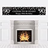 Adult 90th Birthday - Gold - Birthday Party Decorations Party Banner