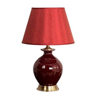 Shirleys Home Lámpara de mesa, lámpara de mesa de cerámica ...