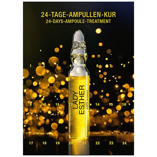 Lady Esther Adventskalender: 24-Tage-Ampullen-Kur 24x2 ml (48 ml) Lady Esther Cosmetic