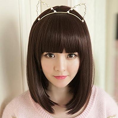 Amazon Com Wig Women Girls Female Short Hair Shoulder
