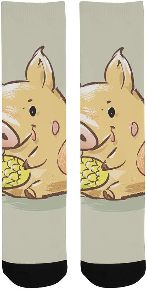 New Year Happy Funny Animal Cute Dancing Pig Crazy Dress Troser Sock For bott
