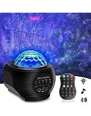 Galaxy Projector Night Light, Tenei 2 in 1 Ocean Wave Night Light Projector with Remote Control, Galaxy Projector with LED Nebula Cloud with Music Player Speaker for Kids Teens Adults Bedroom