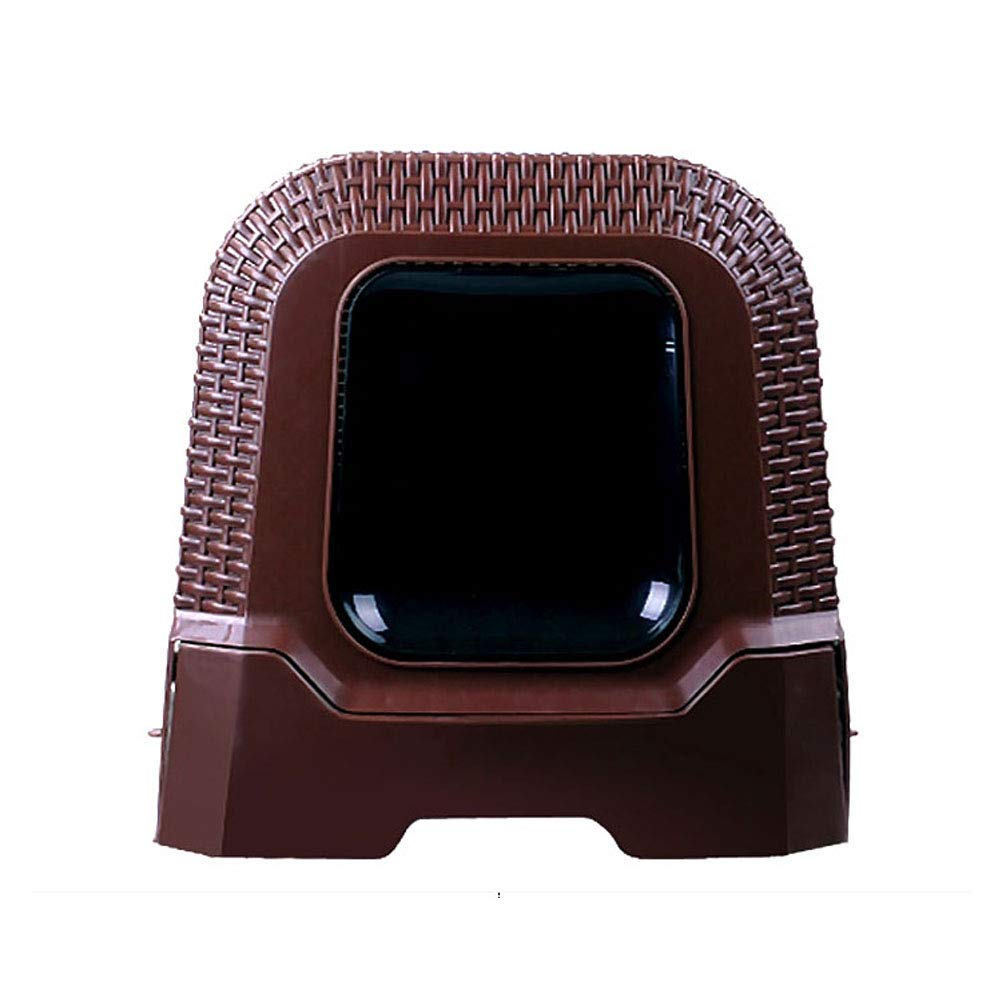 Brown Cat Litter Box top-in Type Large cat Toilet Fully Enclosed Anti-Splashing Deodorant cat Pot