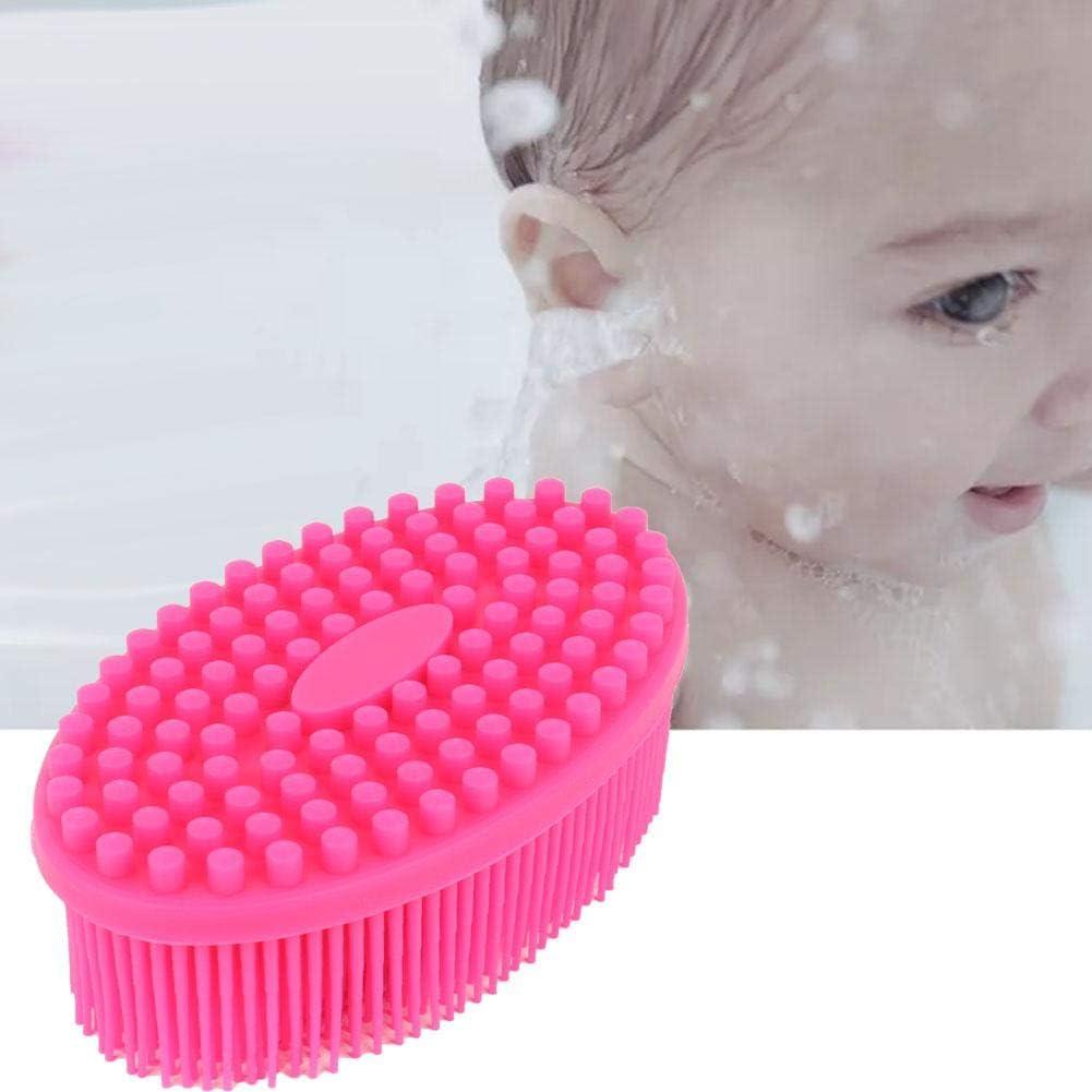 Alomejor Silicone Baby Bath Brush Silicone Baby Sensory Brush Silicone Shower Skin Massage Brush for Baby Body Hair Washer