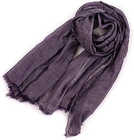 WJOAE Bufanda de Lino de algodón Estilo Unisex Bufanda de Invierno Algodón y Lino Color Largo Bufandas de Mujer Chal Moda Hombre Bufanda Color 5: Amazon.es: Deportes y aire libre