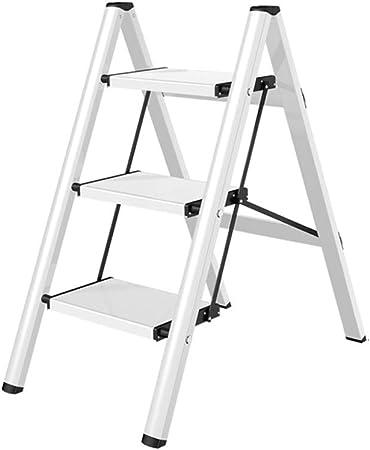 XiuHUa Escalera Taburete Hogar multifunción Escalera pequeña Plegable Grueso Aluminio Soporte de Flores Almacenamiento portátil Escalera for Mascotas, Dos Colores Opcionales Taburete: Amazon.es: Hogar