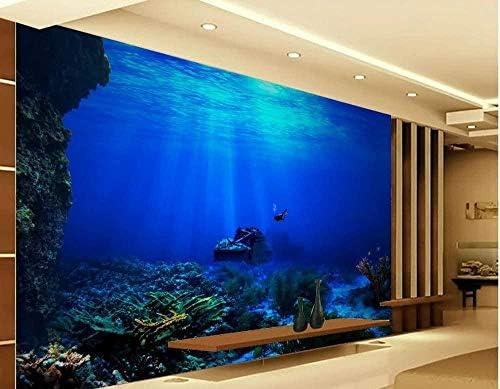 家の装飾ウィンドウ壁画3d壁紙海底サンゴ風景背景写真リビングルームモダンな壁紙-300x210cm