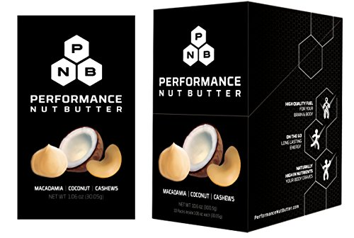 Performance Nut Butter Macadamia, Coconut and Cashew Nut Butter Keto, Paleo and Vegan Friendly Low Carb Healthy Fat Bomb Perfect Ketogenic & Whole 30 Approved Snack 10 Pack of Squeeze Pouches