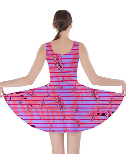 CowCow - Vestido - para mujer Pink Palm XXX-Large