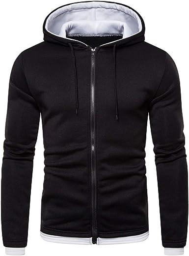 Hoodies for Men,Vickyleb Mens Slim Fit Long Sleeve Lightweight Zip-up Hoodie Coat Outwear with Pocket