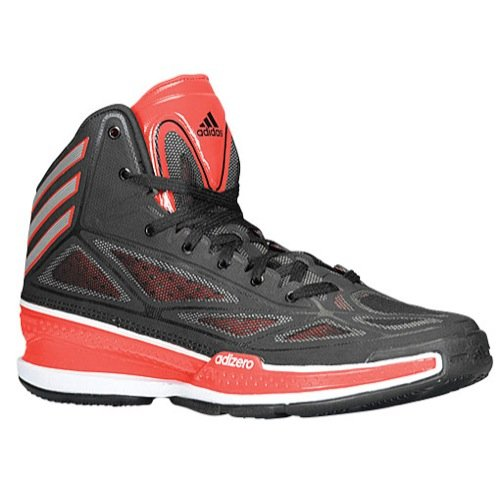 buy online 3aea6 422b0 ... Adidas Mens adizero Crazy Light 3 Basketball Shoes BlackMetallic  SilverScarlet Red G66514 Size 11 - Buy ...