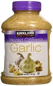 Kirkland Signature Minced California Garlic, 48 Ounce