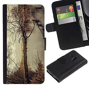 Árbol del otoño - la tarjeta de Crédito Slots PU Funda de cuero Monedero caso cubierta de piel ParaSamsung Galaxy S3 MINI i8190 (NOT S3)