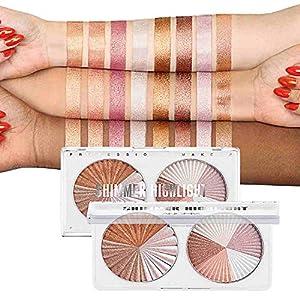 Best Epic Trends 51DHPJZTz-L._SS300_ Sumeitang Highlighter Palette 8 Colors Highlighter Makeup Palette Glow Bronzer High-Gloss Powder Enhanced Face…