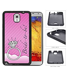 Pink Bride To Be Wallpaper with Wedding Ring Samsung Galaxy Note III 3 N9000 Rubber Silicone TPU Cell Phone Case
